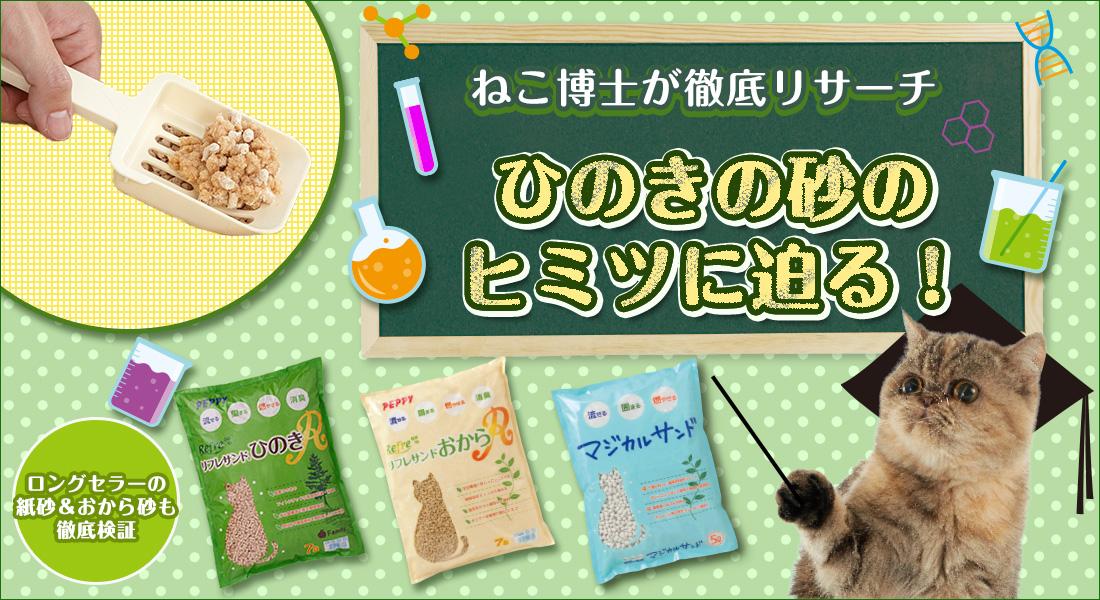 【猫砂特集】ひのきの砂のヒミツに迫る!
