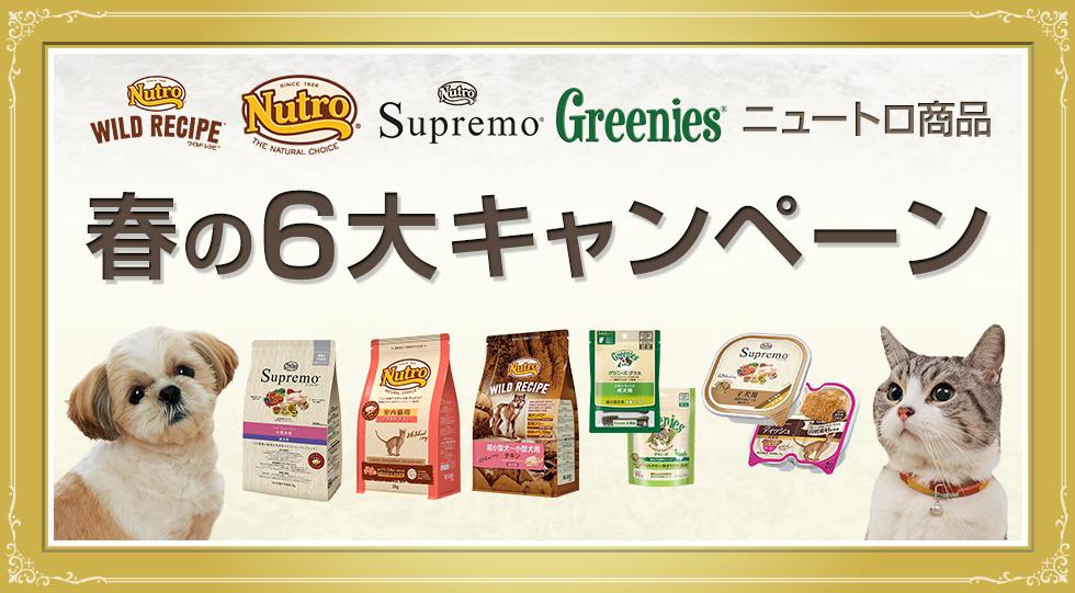 ニュートロ商品春の6大キャンペーン