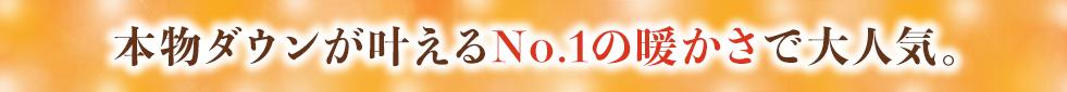 本物ダウンが叶えるNo.1の暖かさで大人気。