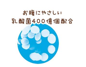 お腹にやさしい乳酸菌400億個配合