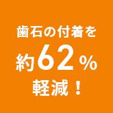 歯石の付着を約62%軽減!