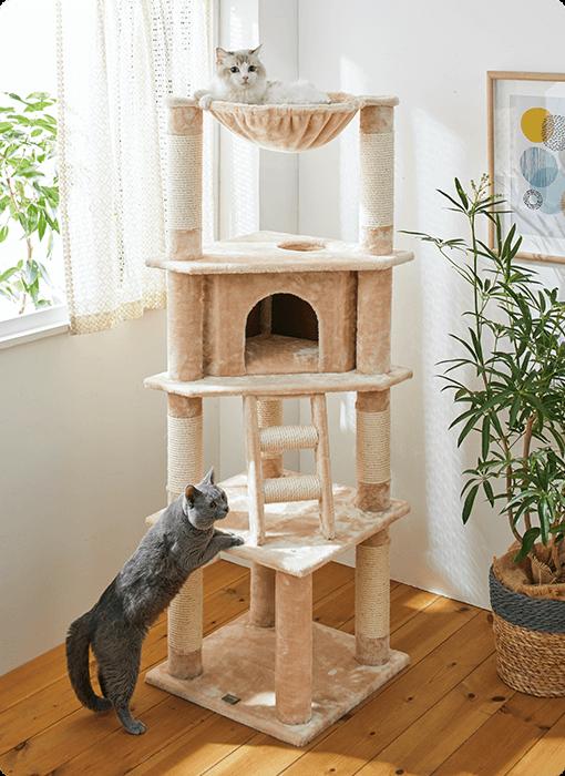 ふかふかハンモックとハウスのタワー