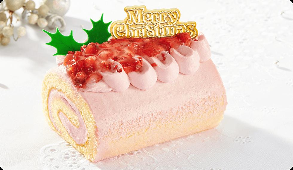 コミフ クリスマスフルーツロールケーキ