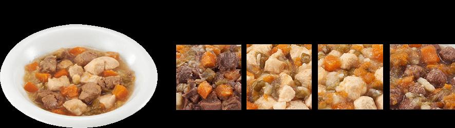 どっちのタイプがお好き? ←柔らかいサイコロ状お肉派? o r ふわふわなボール状お肉派?→