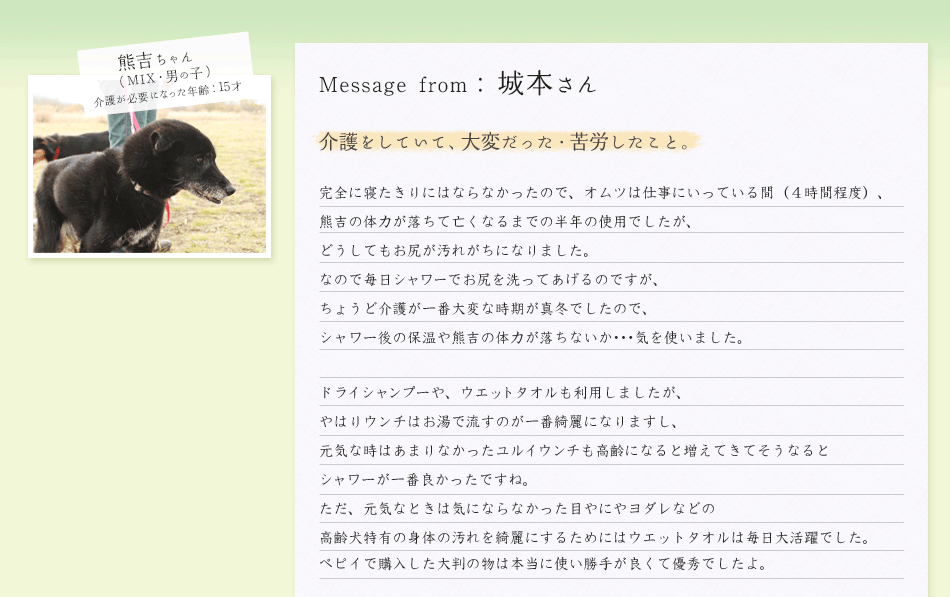 城本さん/熊吉ちゃん