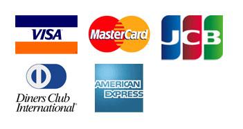 VISA JCB MasterCard dinersClub AmericanExpress