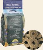 消化に配慮したドーナッツ型の粒。
