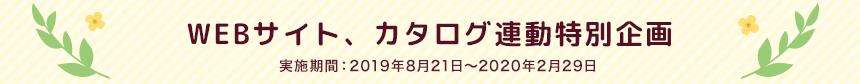 WEBサイト、カタログ連動特別企画