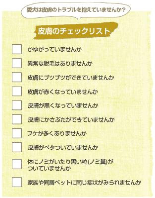 皮膚のチェックリスト