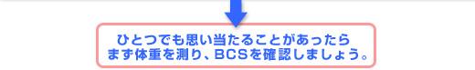 ひとつでも思い当たることがあったらまず体重を測り、BCSを確認しましょう。