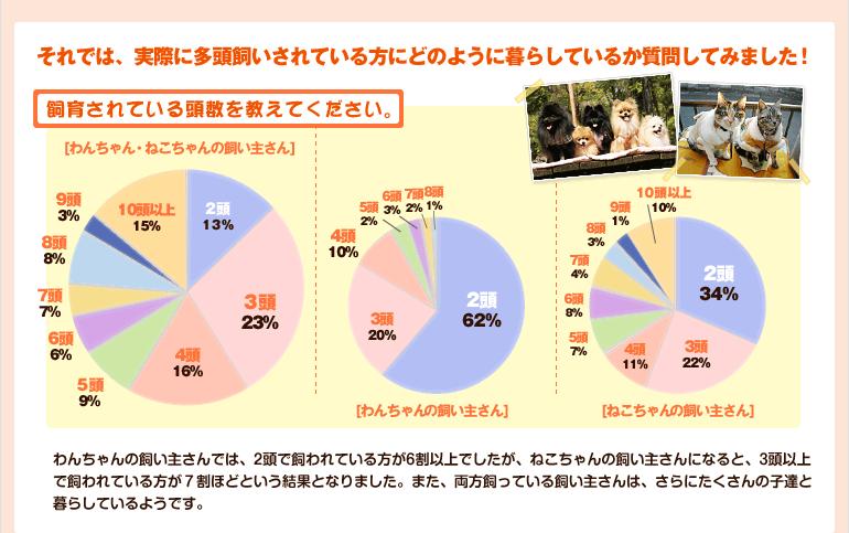 「飼育されている頭数を教えてください。」集計結果グラフ