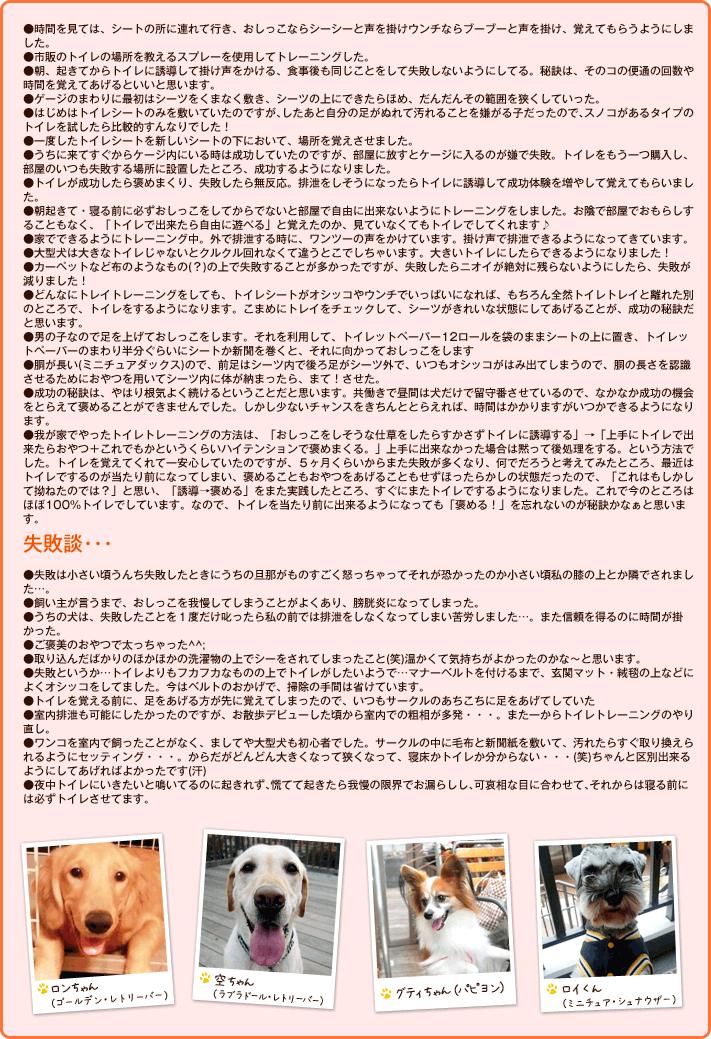 トレーニング方法・成功の秘訣!/失敗談