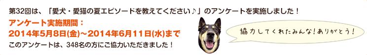 第32回は、「愛犬・愛猫の夏エピソードを教えてください♪」のアンケートを実施しました!