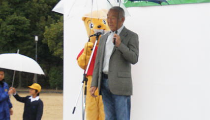 日本野鳥の会会長のタレント柳生博さんのごあいさつ