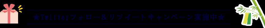 ★Twitterフォロー&リツイートキャンペーン実施中★