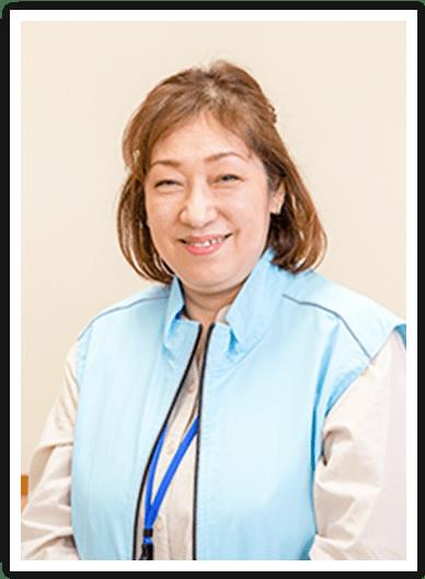 ボランティアの坂井裕子さん