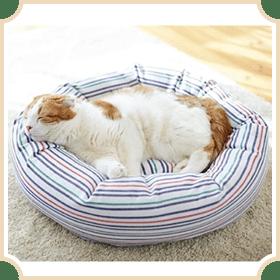 さわやかマリンベーグルベッド (犬猫用ベッド)
