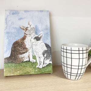 キャンバスアート猫