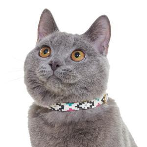 ネイティブ柄 猫首輪