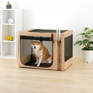 たためる3WAYペットケージ (犬猫用ペットキャリーバッグ) ブラウン・520