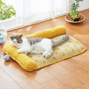 い草のくつろぎ枕付きマット