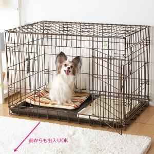ペットケージ ドアドア(2面開き) L【ペット用品】(ペット用品犬ケージ)ペット用品  ペットグッズ  ペットフード  ペット  ペピイ  PEPPY  犬用ケージ  サークル  犬用/【犬・猫の総合情報サイト『PEPPY(ペピイ)』公式通販】