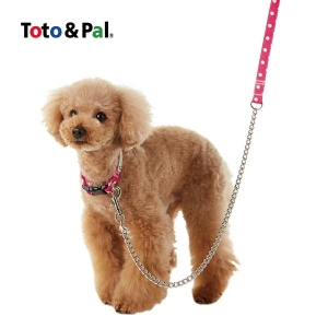 Toto & Pal(トトパル) ハーフチェーンリード (チョークリード 小型犬 中型犬 大型犬) ブラック・約・長さ120x幅1.5cm【ペット用品】(ペット用品犬ハーネスリード)ペット用品  ペットグッズ  ペットフード  ペット  ペピイ  PEPPY  リード  犬用/【犬・猫の総合情報サイト『PEPPY(ペピイ)』公式通販】