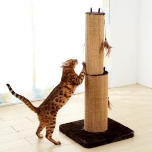 一緒に遊べる爪とぎタワー 小【ペット用品】(ペット用品猫おもちゃ)ペット用品  ペットグッズ  ペットフード  ペット  ペピイ  PEPPY  キャットタワー  猫用/【犬・猫の総合情報サイト『PEPPY(ペピイ)』公式通販】
