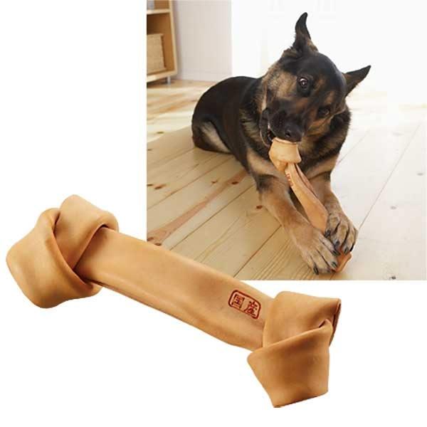 国産セーフハイド (犬 おもちゃ 牛革製 ガム 噛む) ボーン・S
