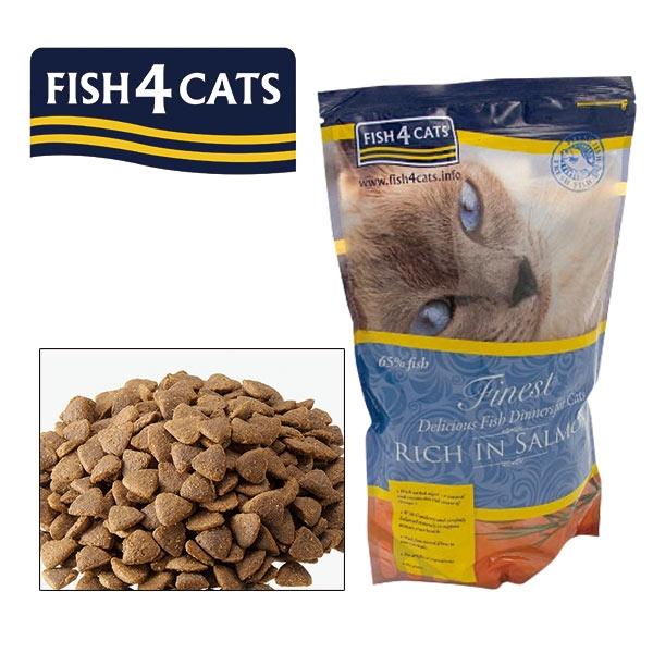フィッシュ4キャット サーモン (子猫 成猫 老猫 グレインフリー キャットフード) 0.4kg