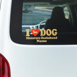 ネーム入り アイラブドッグステッカー ブラック・ジャックラッセル【ペット用品】(ペット用品犬アクセサリー・小物)ペット用品  ペットグッズ  ペットフード  ペット  ペピイ  PEPPY  雑貨  犬用/【犬・猫の総合情報サイト『PEPPY(ペピイ)』公式通販】