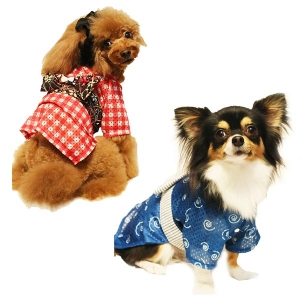 クールxクールプラス ユカタ2 (犬 洋服 ウェア 夏用 小型犬 中型犬) ギンガム・LL(約・着丈34x首回り30xバスト50cm)【ペット用品】(ペット用品犬服)ペット用品  ペットグッズ  ペットフード  ペット  ペピイ  PEPPY  ウェア  犬用/【犬・猫の総合情報サイト『PEPPY(ペピイ)』公式通販】
