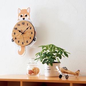 柴犬の振り子時計