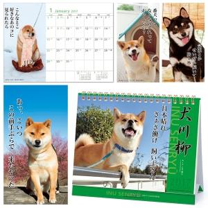 <ペピイ> 犬川柳卓上カレンダー(月めくり)2017画像
