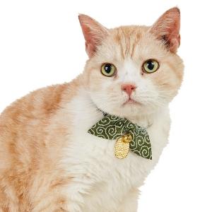 猫に小判猫首輪 (猫 カラー 鈴付 和柄) レッド・S(約・首回り16-21x幅1.0cm)【ペット用品】(ペット用品猫首輪)ペット用品  ペットグッズ  ペットフード  ペット  ペピイ  PEPPY  猫用首輪  猫用/【犬・猫の総合情報サイト『PEPPY(ペピイ)』公式通販】