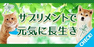 【全員にクーポンプレゼント】サプリでわんにゃんの健康を応援!