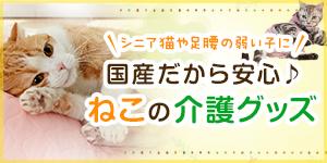 ねこちゃんのシニア・介護用品特集