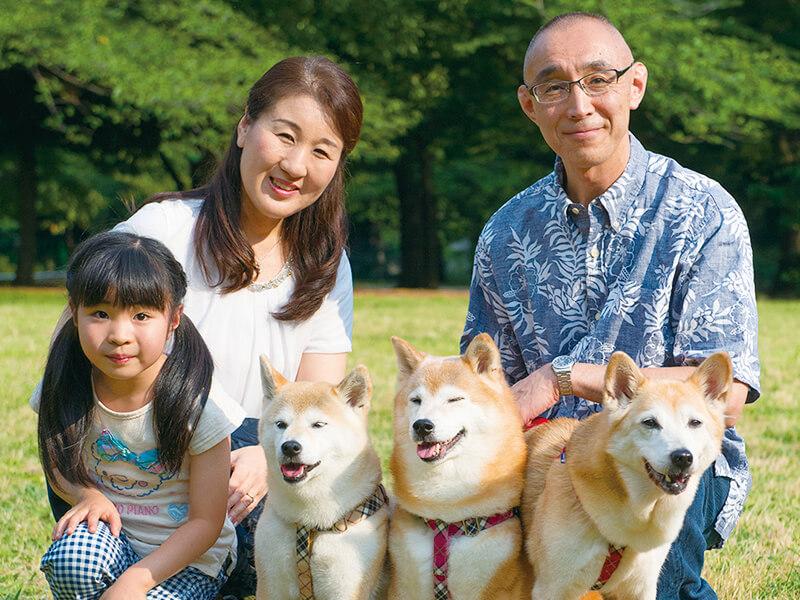 犬好き・ボランティアをする古川さん家族・柴犬