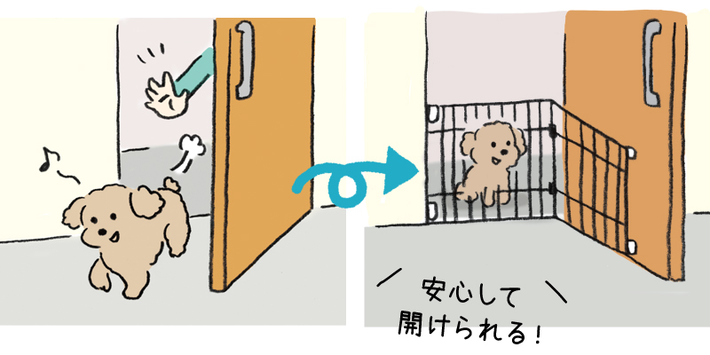 玄関からの飛び出しを防止