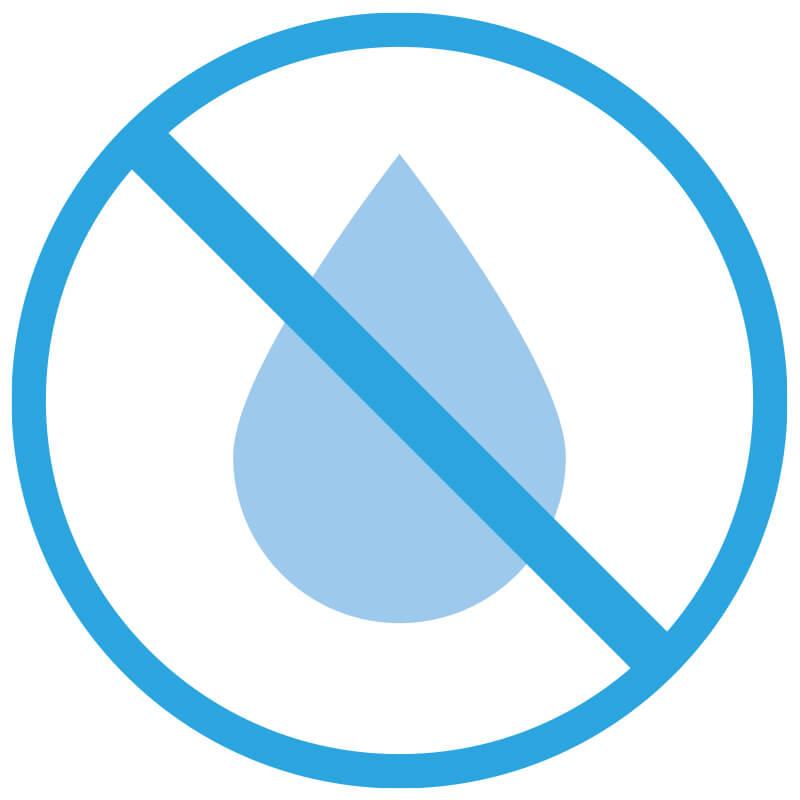 しっかり防水