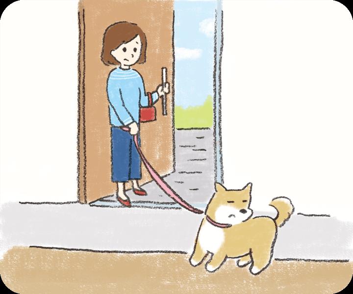 犬が散歩を嫌がる